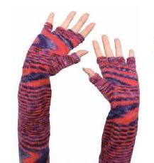 FLYING SAUCERS FINGERLESS GLOVES free pattern