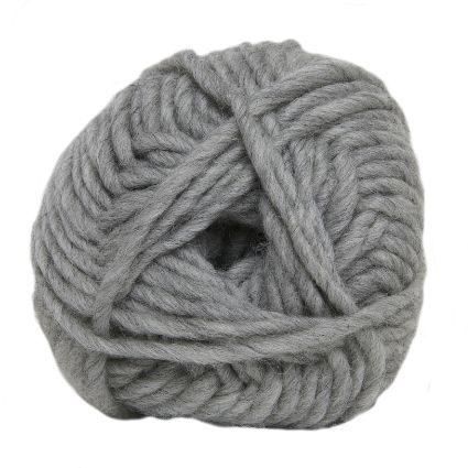 Hjertegarn NATUR ULD light grey marl