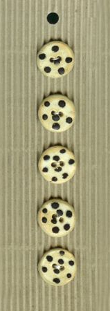 Incomparable BUTTONS L294 - black spotted x 5