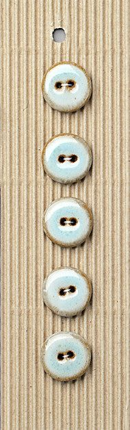 Incomparable BUTTONS  L359 -  aqua glazed round x 5