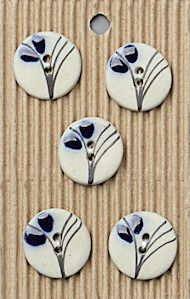 Incomparable BUTTONS  L533 - lotus flower design x 5