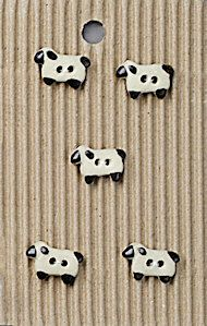Incomparable BUTTONS L566 - tiny sheep x 5