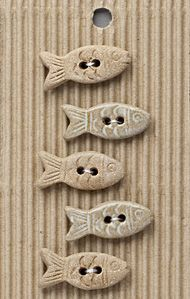 Incomparable BUTTONS  L577 - little fish x 5