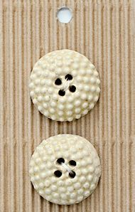 Incomparable BUTTONS L588 - cream textured x 2