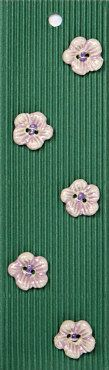 Incomparable BUTTONS  L87 -  pale pink flowers x 5