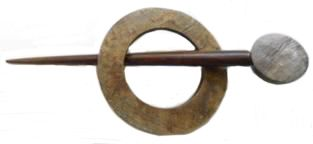 Indian Shawl Pin - round horn