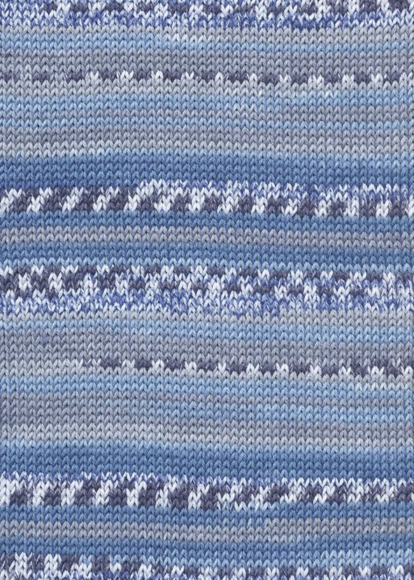 Lang Yarns BABY COTTON COLOR 34 blue fairisle print