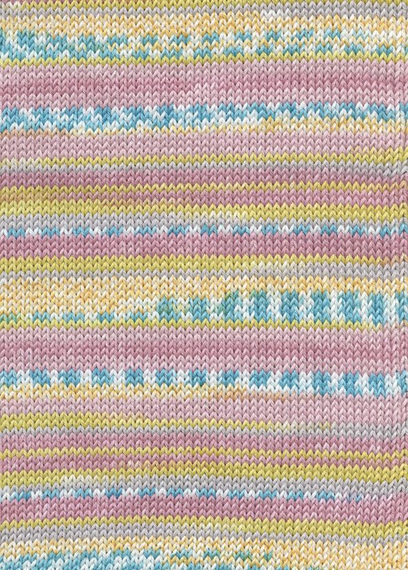 Lang Yarns BABY COTTON COLOR 52 sorbet fairisle print