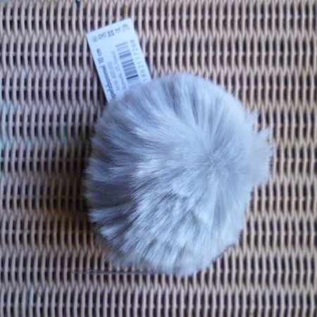 Lang Yarns Fun Fur POMPOM 10 cm pale grey