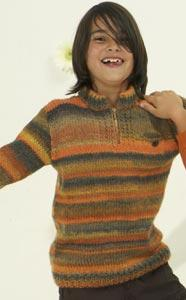MILLE COLORI BOY's JUMPER Free Pattern