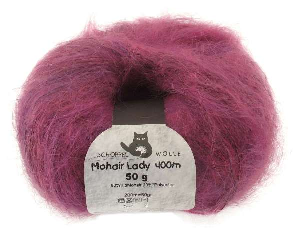 Schoppel-Wolle MOHAIR LADY 1390 pink cherry