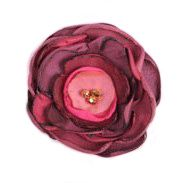 Silk Flower Brooch - fuchsia