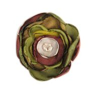 Silk Flower Brooch - green