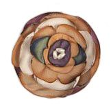 Silk Flower Brooch - mauve multi