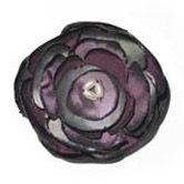 Silk Flower Brooch - purple/silver