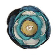 Silk Flower Brooch - teal