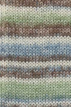 SUPER SOXX ALPACA green/blue/brown print 154